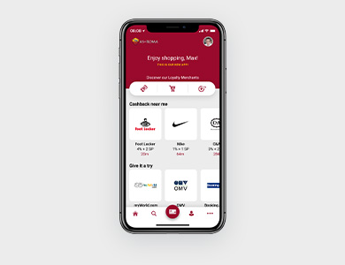 Cashback App in club colours